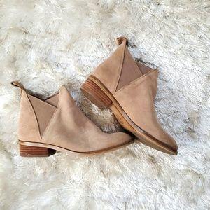ALDO Tan/Beige Faux Suede Flat Ankle Boots